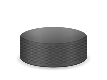 Hockey puck on a white background. Vector illustration.