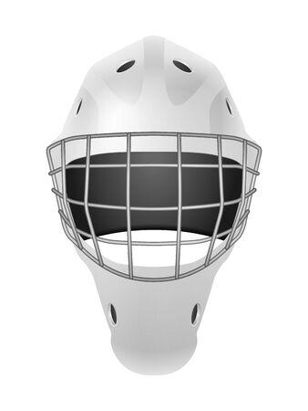 Hockey goalie mask on a white background. Vector illustration. Stock Illustratie