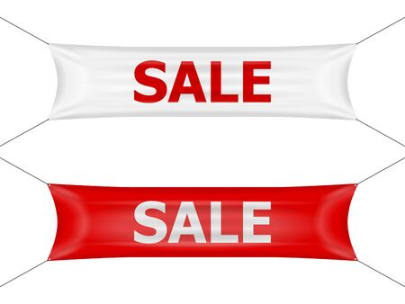 Banner sale on a white background.