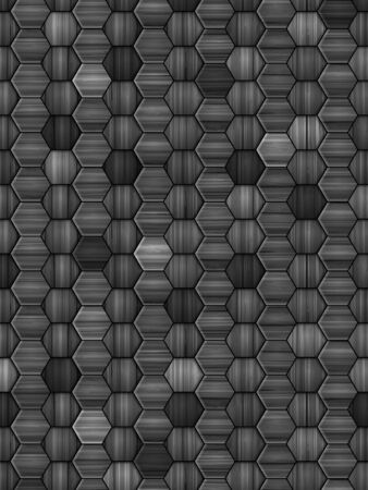 Background formed by wooden hexagon blocks. Vector illustration.