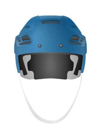 Hockey helmet on a white background. Vector illustration.