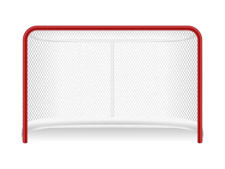 Obiettivo di hockey su sfondo bianco. Illustrazione vettoriale.