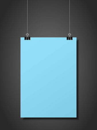 Hanging folded paper on a black background. Archivio Fotografico - 138597174