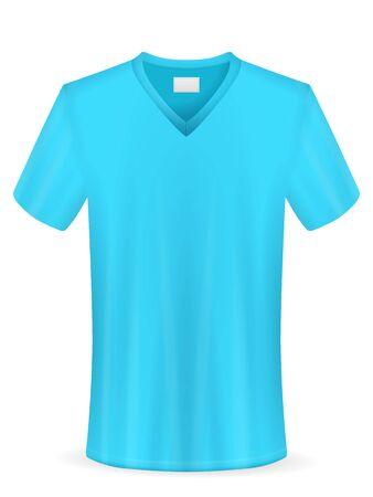 Camiseta sobre un fondo blanco. Ilustración de vector. Ilustración de vector