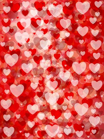 Valentine's day background with hearts. Vector illustration.