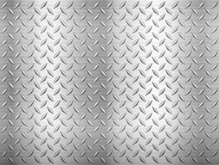Fondo de textura de chapa de diamante.Ilustración de vector.