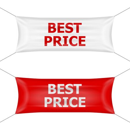 Banner best price on a white background.