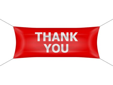 Banner thank you on a white background.