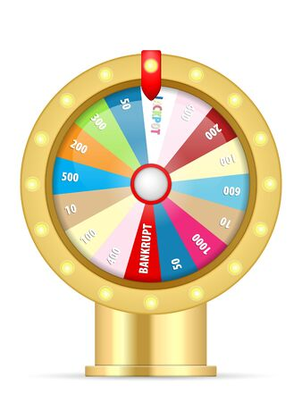 Wheel of fortune on a white background. Vector illustration.