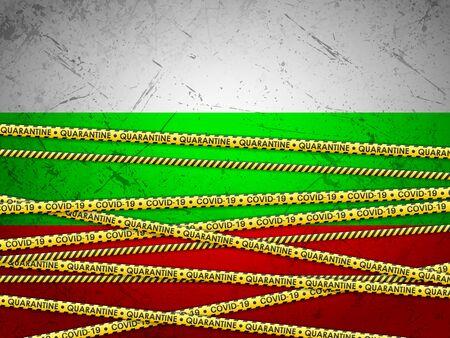 Bulgaria in quarantine textured