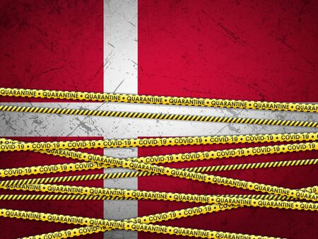 Denmark in quarantine textured