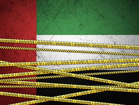 UAE in quarantine textured
