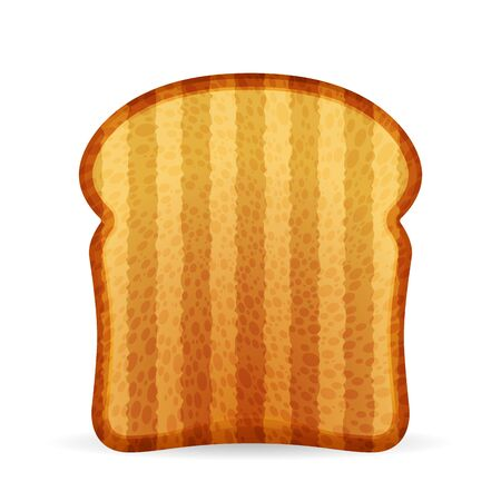 Bread toast on a white background. Vector illustration. Zdjęcie Seryjne - 147580823