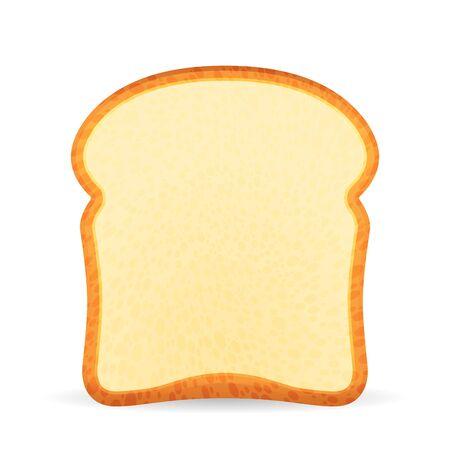 Bread toast on a white background. Vector illustration. Çizim