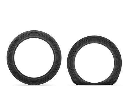 Tires on a white background. Vector illustration. Vector Illustration