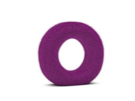 Fur letter O on a white background. 3d illustration. Imagens