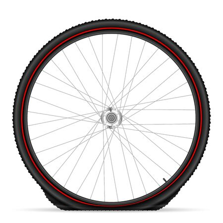 Flat bike tire on a white background. Vector illustration.