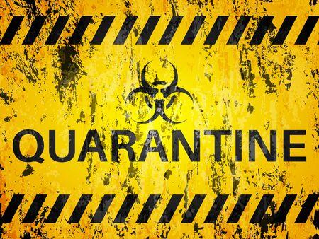 Grunge quarantine textured background. Vector illustration. Vettoriali
