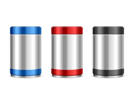 Coffee canisters set on a white background. Ilustracja