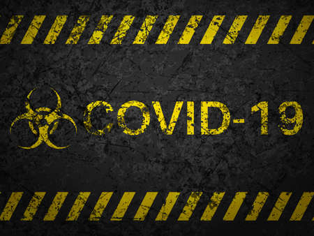 Grunge covid-19 textured background. Vector illustration.