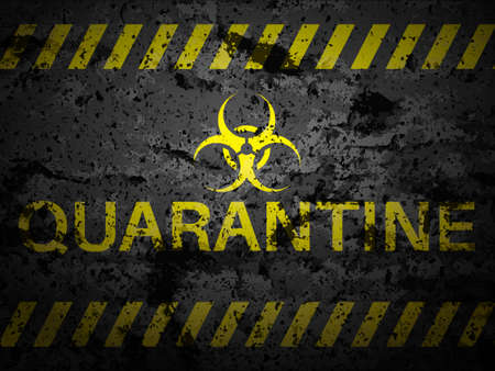 Grunge quarantine textured background. Vector illustration. Ilustração