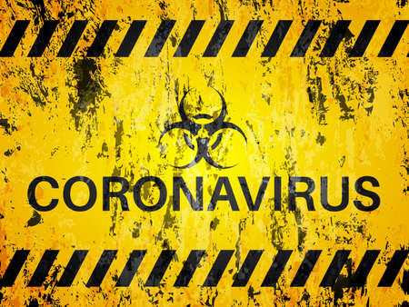 Grunge coronavirus textured background. Vector illustration. Ilustração
