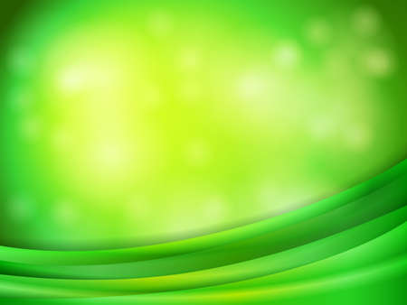 Smooth shining lines on abstract bokeh background