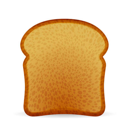 Bread toast on a white background. Vector illustration.