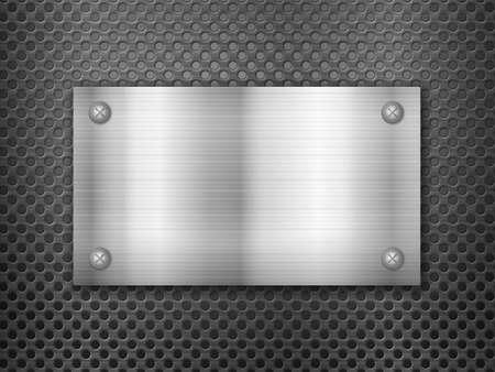 Background formed by metal sheets. Vector illustration. Vecteurs