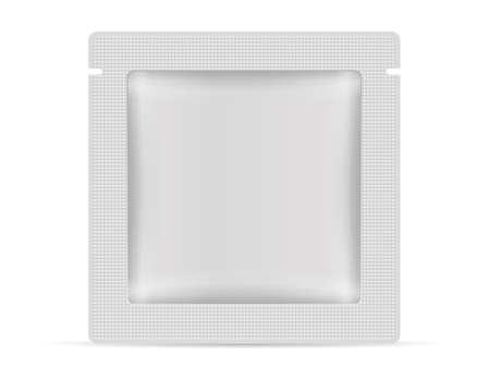 Sachet on a white background. Vector illustration.