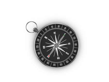 Compass on a white background. 3d illustration.