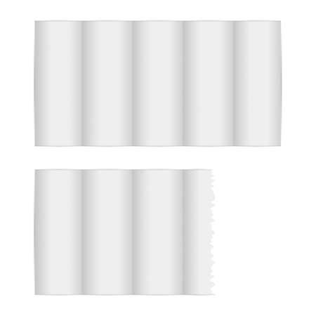 Kitchen paper set on a white background. Vector illustration.