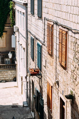 Ð¡olored shutters in the old city of Dubrovnik