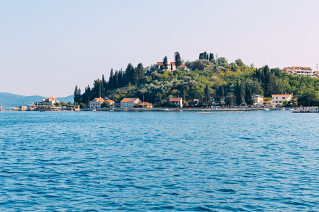 View of a small coastal city in Croatia