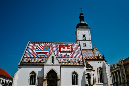 St. Marks Church in Zagreb, Croatia.