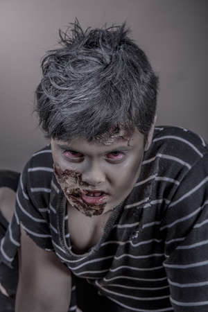 is a girl disguised as a zombie Stock Photo - 18488279