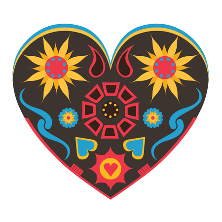 Vector illustration with big abstract heart Imagens - 122792268