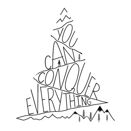 Affiche de typographie inspirée, art de motivation Vecteurs