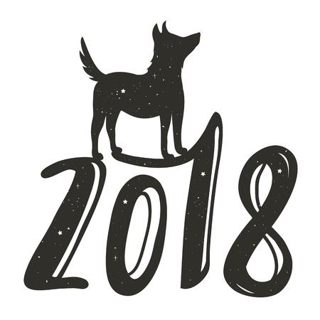 2018 Happy New Year greeting card Ilustração