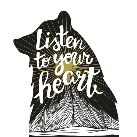 Lettering quote. Inspirational and motivational illustration Ilustração