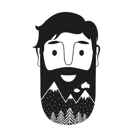 Inspirational and motivational hipster style illustration. Trendy print design with nature