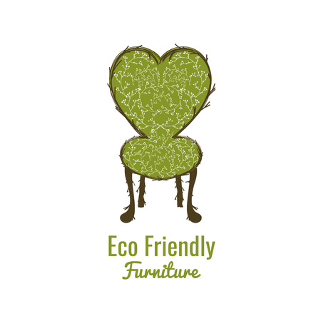 Perfect logo, label or badge for furniture shops, salons and ecological exhibitions