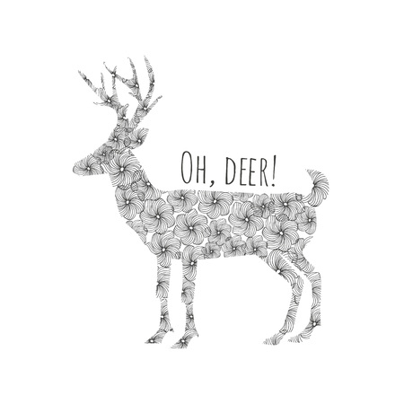 Typography poster with deer