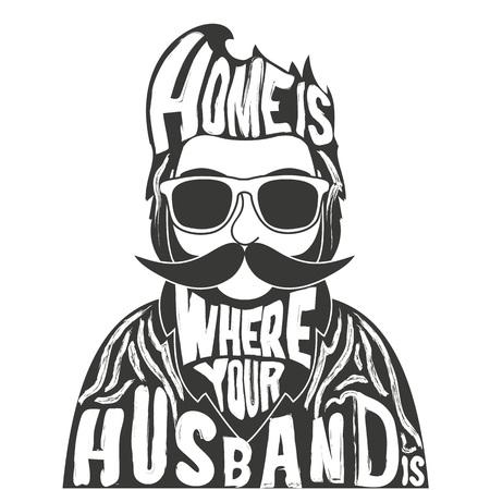 Inspirational and motivational poster, hipster greeting or postal card, home decoration, t-shirt design Ilustração