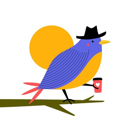 Funny print design with animal and sun