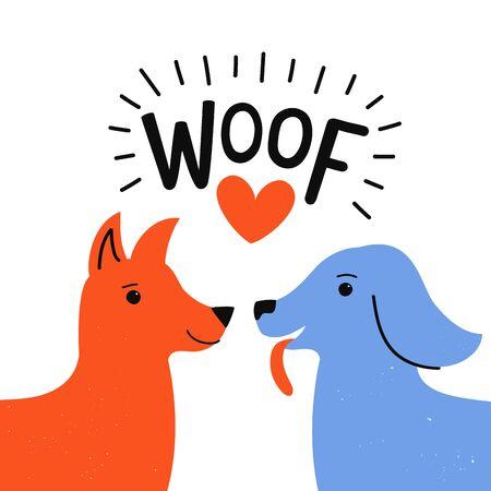 Cute romantic typography poster, pet apparel print design, love greeting card template