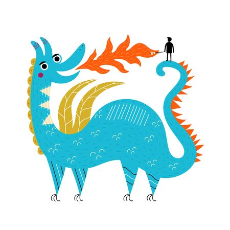 Funny print design with magic animal