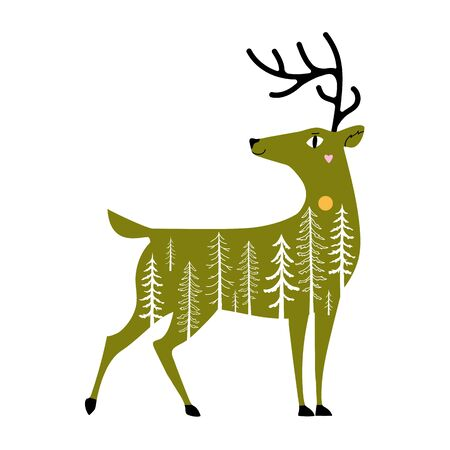 Wild animal decoration poster, apparel print design Stock Vector - 133830483