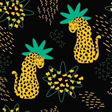 Apparel print design with wild animal