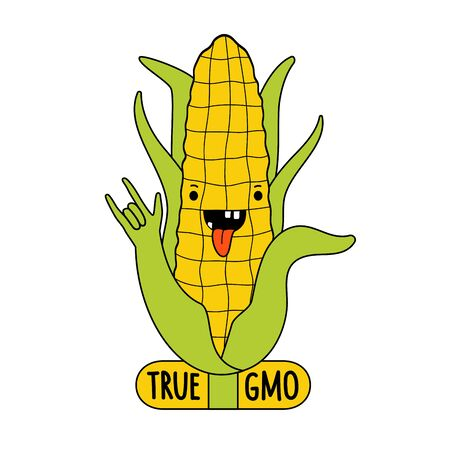 Funny print design, Genetically Modified Organism character